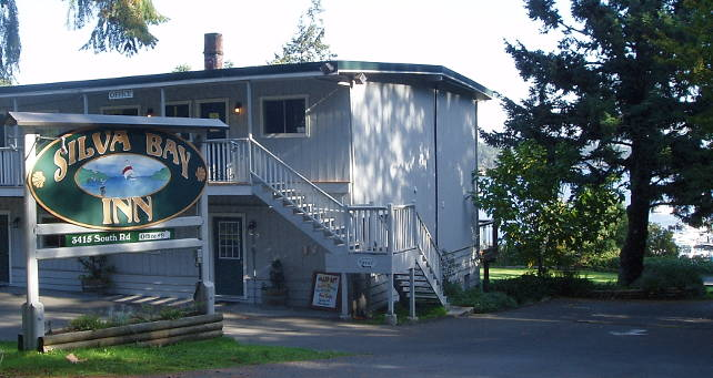 Silva Bay Inn is at the end of quiet South Road, Silva Bay, Gabriola Island.